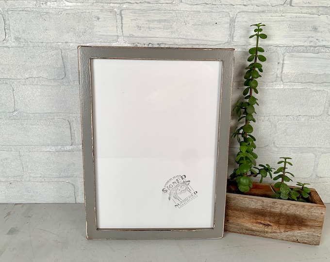 """A4 Size Picture Frame - SHIPS TODAY - Peewee Style with Super Vintage Grey Finish - In Stock - Frame - 210 x 297 mm - 8.3 x 11.7"""" Gray"""