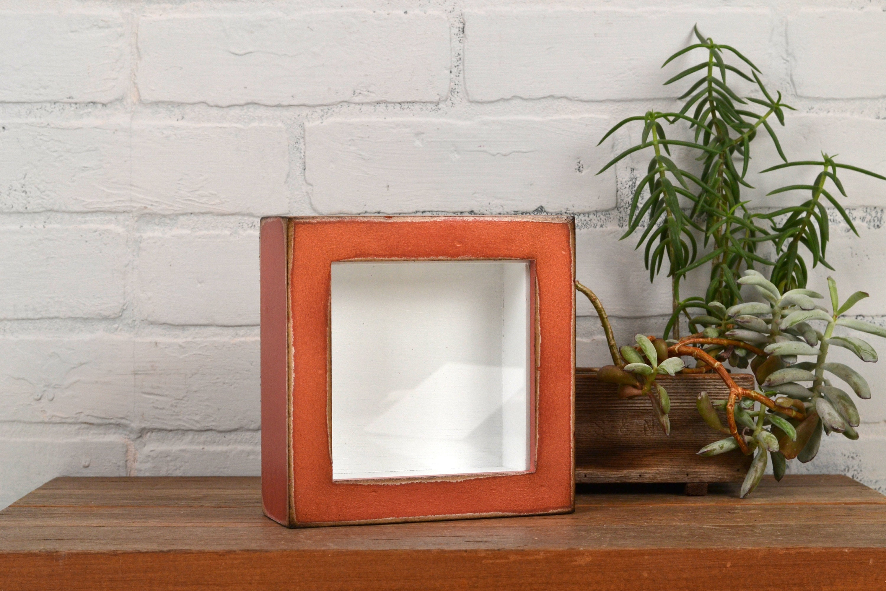 Small Shadow Box Frame Holds Up To 45 X 45 X 125 Deep Vintage