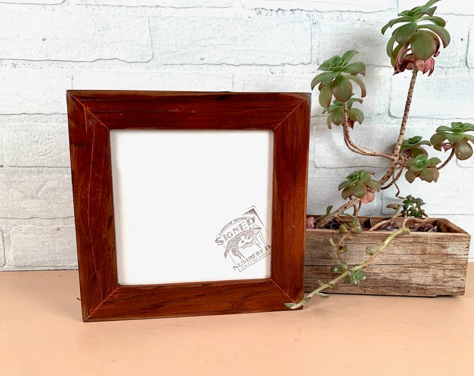 """7x7"""" Square Picture Frame - SHIPS TODAY - 1.5"""" Reclaimed Cedar with Super Vintage Wood Tone Finish - In Stock - 7 x 7 inch Frames"""