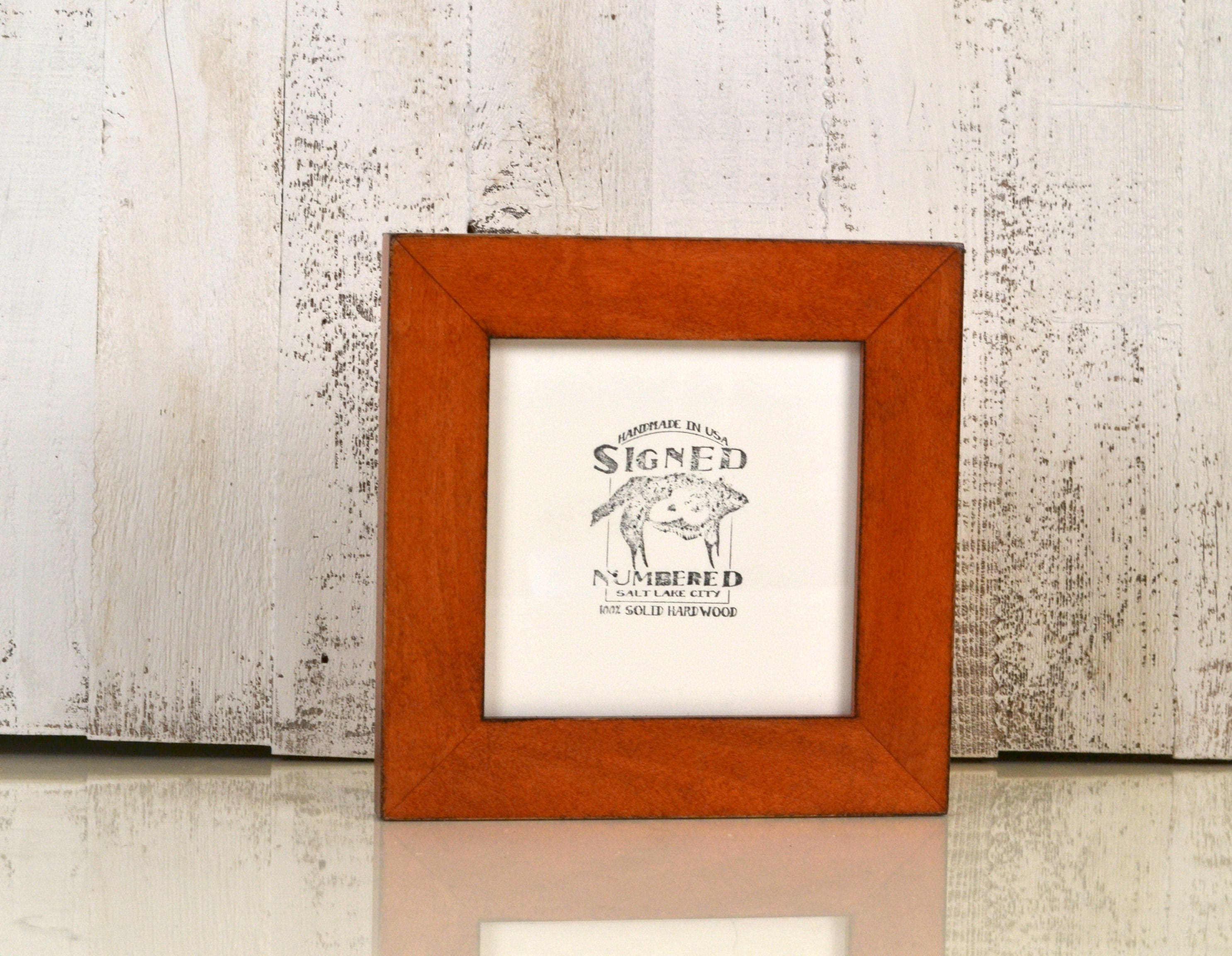 6x6 Square Frame In 15 Inch Standard Style With Vintage Wood Tone