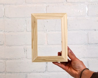 Blank Picture Frames for Artists - 1x1 Flat Natural Poplar Style - Choose Your Size and Quantity - Bulk Discount Wholesale Frames