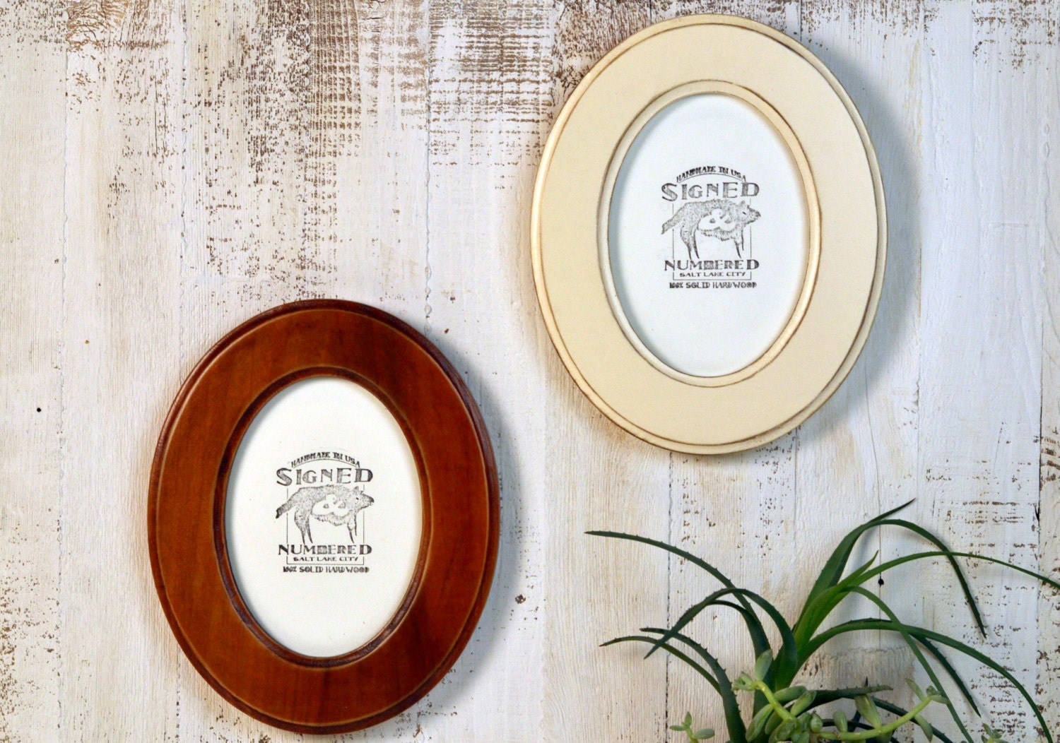 5x7 Oval Opening Picture Frame Oval Shaped Outside In Finish Color