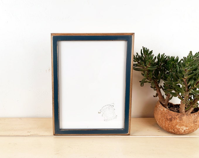 A4 Size Picture Frame in Vintage Color and Style of Your Choice - Solid Hardwood Frames - 210 x 297 mm - 8.3 x 11.7 inches European A 4 Size