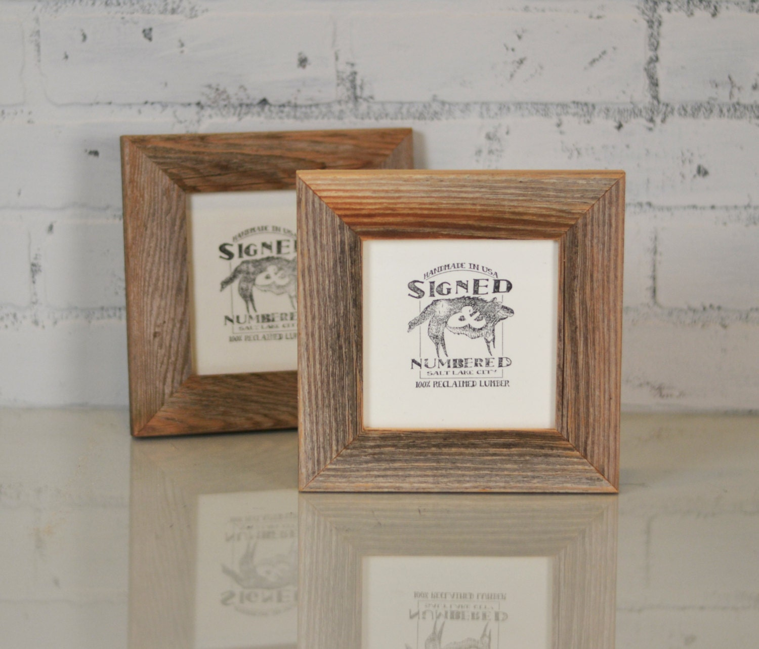 5x5 Picture Frame in 1.5 Wide Rustic Natural Reclaimed Cedar ...