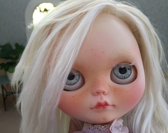 SOLD!!!!!  Custom OOAK Customised Blythe doll with mohair re-root