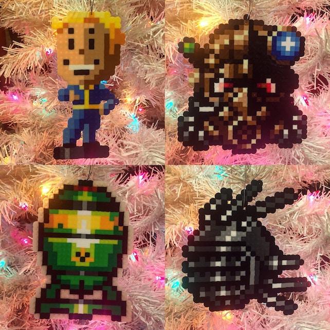 Fallout 4-8-Bit-Pixel-Art Weihnachts-Ornamente | Etsy