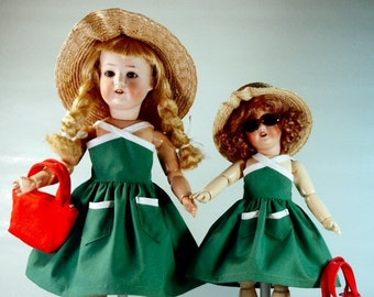 Bleuette and Rosette patterns for Doll Clothing - Two different Gautier Languereau sundresses from 1956 and 1959