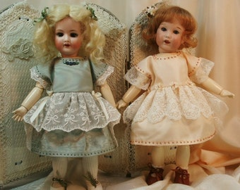 Bleuette pattern for doll clothing - La Semaine de Suzette 1921 - PETITE CAPE and ROBE Habillee