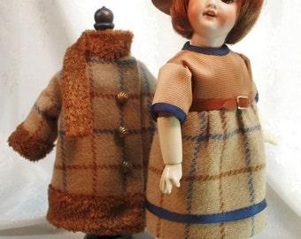 Bleuette pattern for doll clothing - 1920s Dress and Fur Trimmed Coat - La Semaine de Suzette