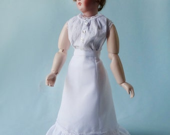 French Fashion doll clothing pattern to make Underclothing Set  ca 1900 - fancy set of Petticoat, Corset cover and Drawers