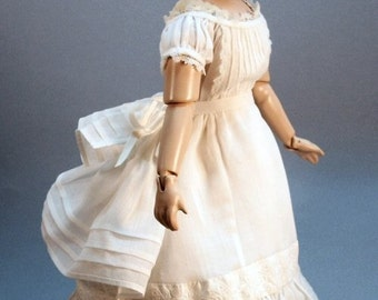 French Fashion doll clothing pattern to make Underclothing Set Three ca 1870 fancy set of Petticoat, Chemise and Drawers