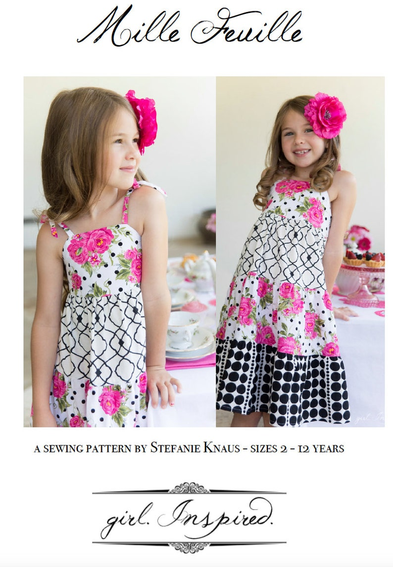 Mille Feuille Dress Pattern PDF FILE ONLY image 0