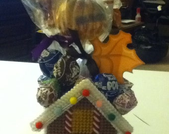 Gingerbread house goodie holder
