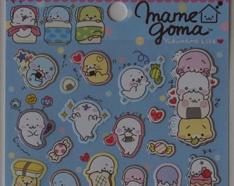 San-X Mamegoma Sticker Sheet - SE32202