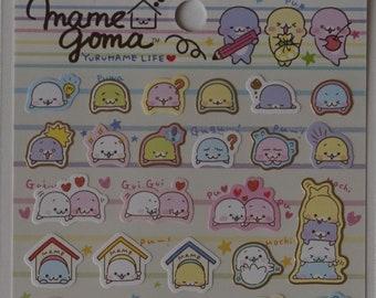San-X Mamegoma Sticker Sheet - SE32201