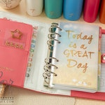 Light Pink Color Crush 2019 Personal Planner Kit Webster's Pages • Free Washi Tape