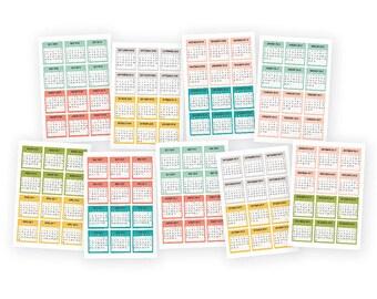 "Clearance Planner Calendar Stickers 4""X6"" 9/Pkg (July 2016 - December 2017) 2016-2017 Mini Monthly Calendar Stickers (4974)"