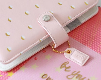 50% Off SALE! Blush & Gold Dots Webster's Pages Color Crush Personal Binder Only