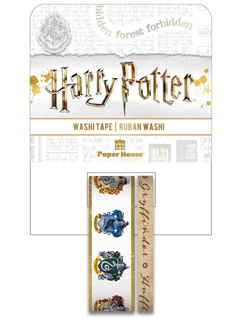 Harry Potter House Crests Washi Tape Set STWA-0051E image 0