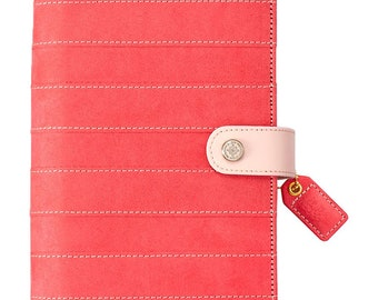 Pink Stitched Stripe Suede Color Crush Personal Planner Kit Undated Calendar Webster's Pages  • Free Washi Tape (CCPK001-PSS)