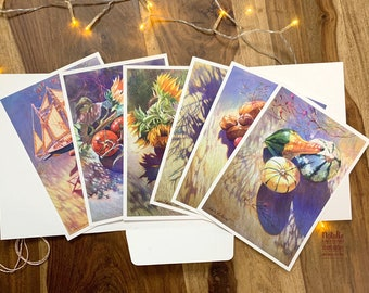 The dance of Shadows: A premium edition of 6 Prints (~ 5,8*8,3'', print & postal card two in one)