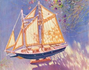 Sunny sail (8.5 x 11'')