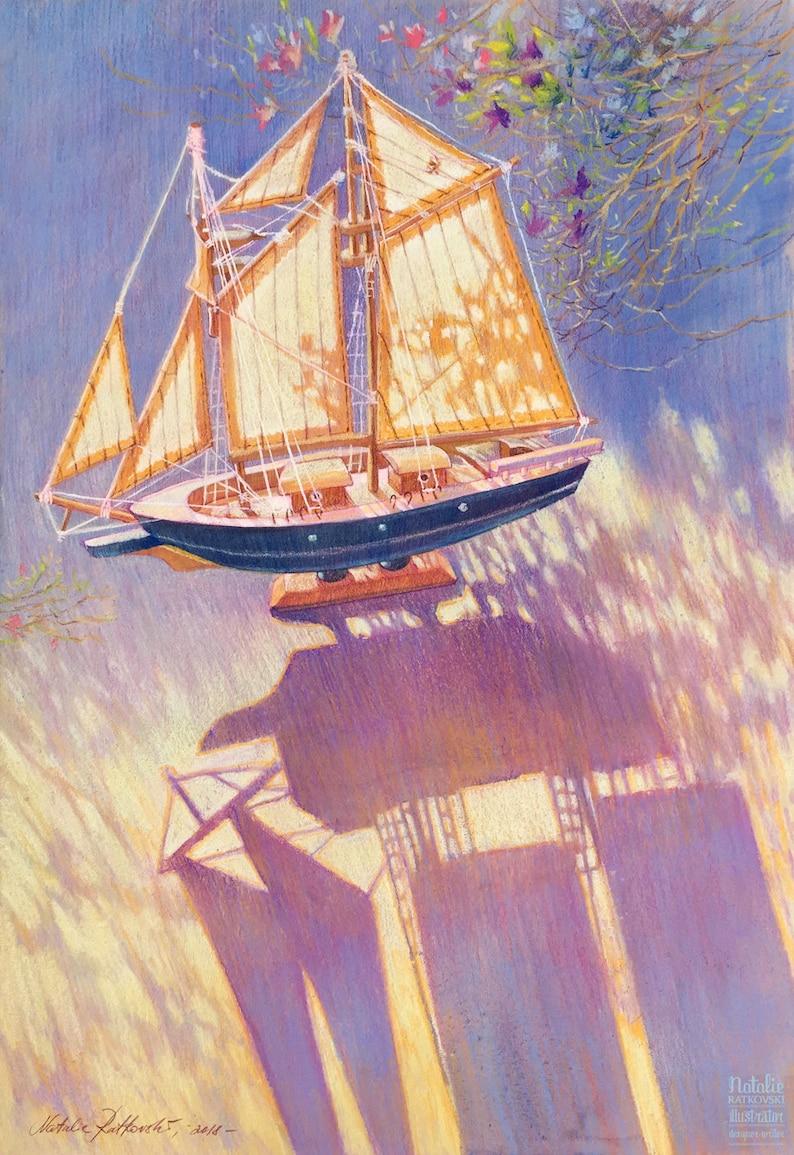 Sunny sail 8.5 x 11'' image 0