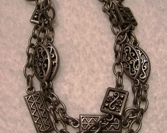 Bracelet Pewter With Stations