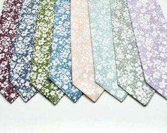 Floral Neckties Dusty Sage Floral Ties Petal Floral Ties Wedding Necktie Floral Wedding Ties Mint Floral Neckties Dusty Blue Floral Neckties