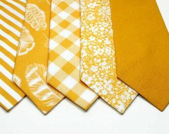 Mustard Neckties Mustard Floral Neckties Mustard Necktie Mustard Bow Tie Mustard Pocket Square Wedding Neckties Mustard Wedding Ties