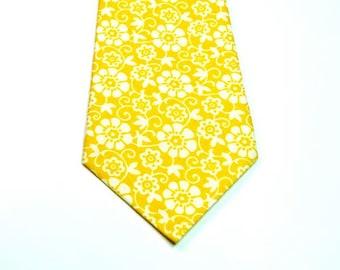 Yellow Necktie Yellow Ties Wedding Neckties Yellow Wedding Ties Yellow Necktie Mens Neckties Neckties Custom Cotton Neckties