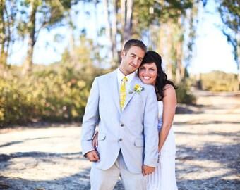 Yellow Neckties Mens Neckties Wedding Neckties Yellow Floral Cotton Neckties Custom Neckties