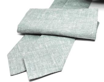 Sage Linen Neckties Dusty Sage Green Ties Sage Neckties Eucalyptus Neckties Dusty Shale Ties Linen Ties Wedding Ties Sage Linen Ties Sage