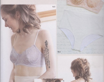 Simplicity Pattern 8229 by M Madalynne Delicate Underwire Bras In Two  Styles With Adjustable Straps 8aaa4396c