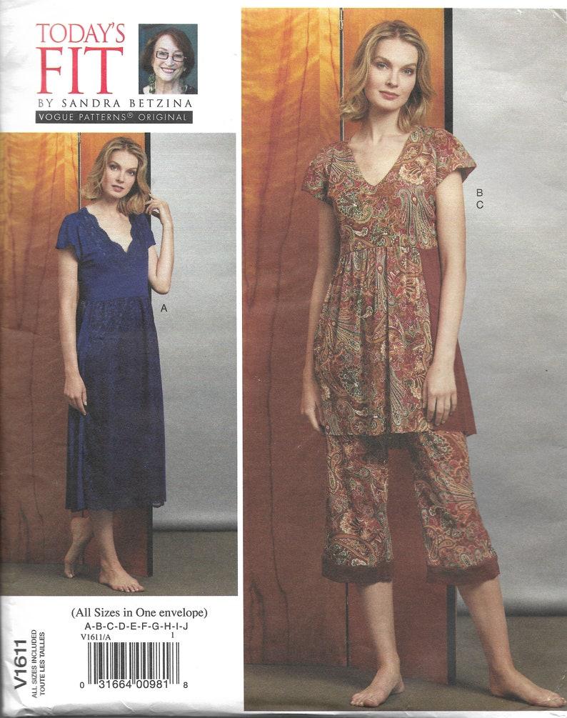 Vogue Pattern V1611 Today s Fit by Sandra Betzina V-Neck  ca2409c5b