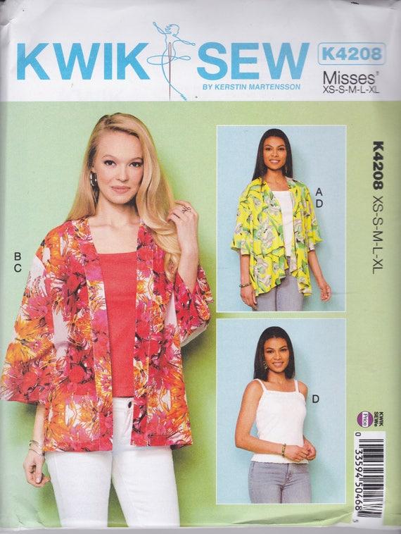 Kwik Nähen Muster K4208 Kimono Stil offen Jacken: Erweiterte   Etsy