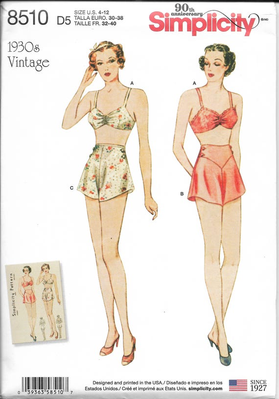 8006feb444fcb Simplicity Pattern 8510 D0828 1930 s Reproduction