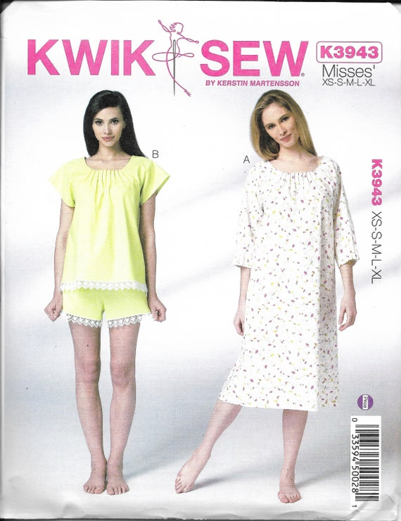 Kwik Sew Pattern K3943 Nightgown   Pajama Have Scooped and Pin  271bc2de0