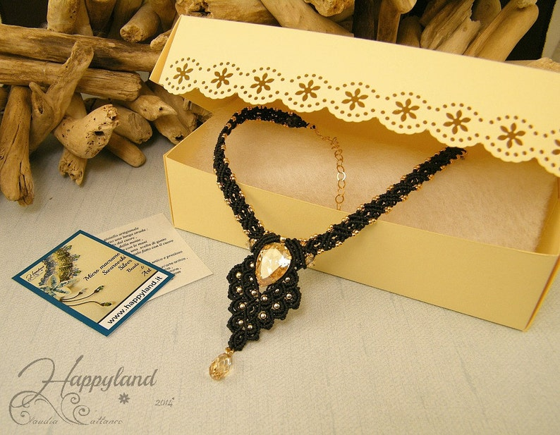 Galadriel macram\u00e8 necklace pattern