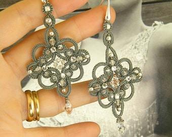 Sherazade , earrings tatting pattern