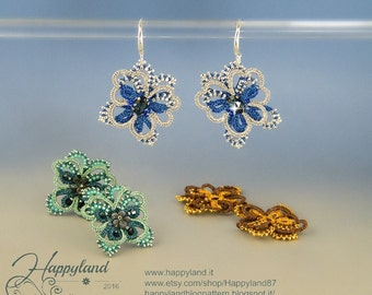 Fly with me  , needle tatting earrings