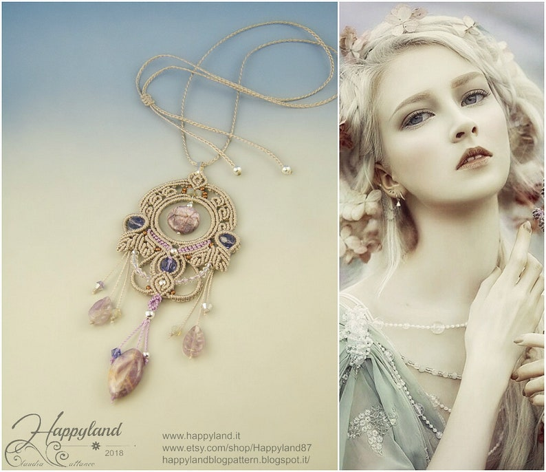 kit and tutorial step by step with 51 photos Mystical pendant