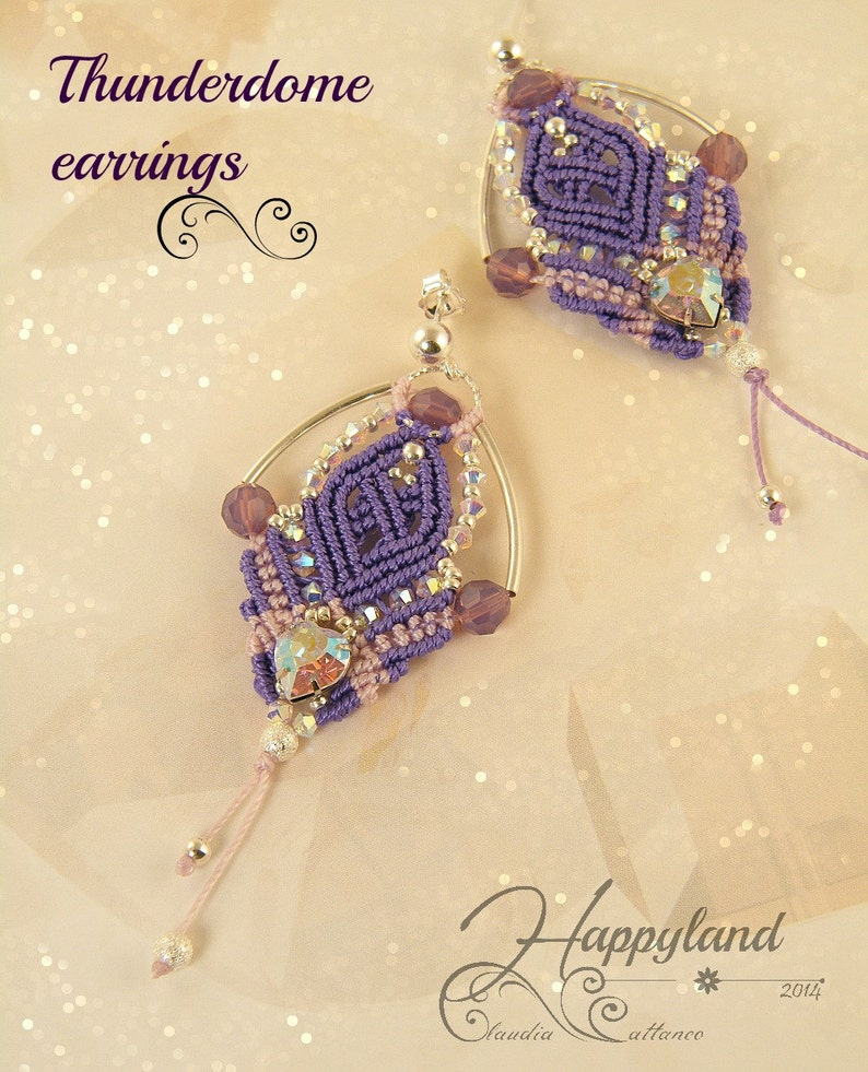 macram\u00e8 earrings pattern Thunderdome