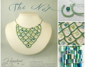 The Net , needle tatting necklace tutorial