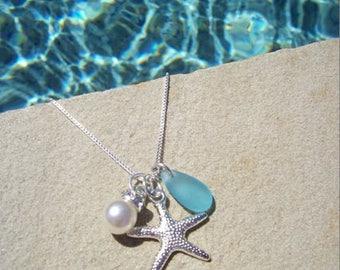 STARFISH NECKLACE- Starfish Necklace, Starfish Jewelry, Starfish Necklace, Starfish Jewelry Necklace, Bridesmaid Starfish Jewelry