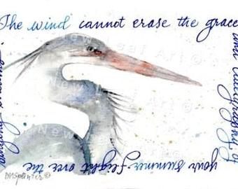 Blue Heron Greeting and Note Card,  Heron Card, Bird Greeting Card,  Crane, Bird Lover Card