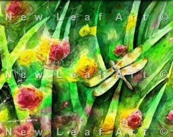 Magical Dragonfly Morning Fine Art Print