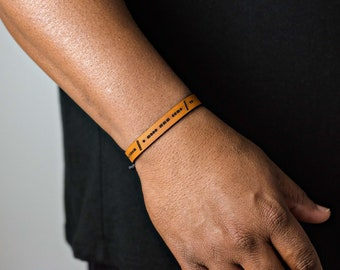 Morse Code Bracelet Custom - Leather Bracelet for Men