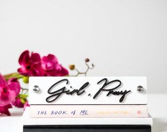 Christian Gift   Christian Sayings   Christian Decor   Office Desk accessories   Scripture Sign   Girl Pray