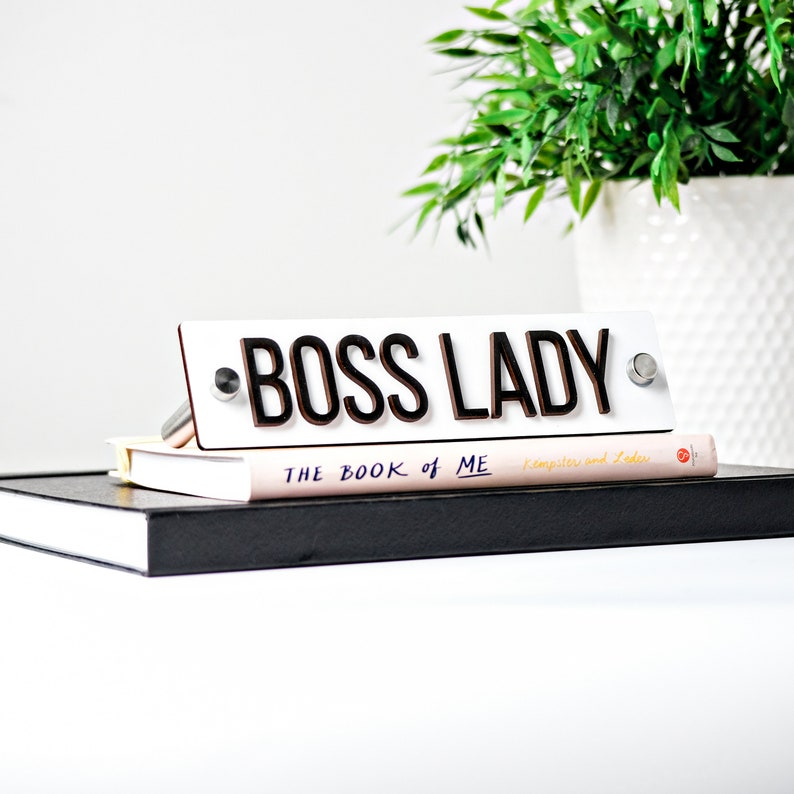 Boss Lady Name Plate  Desk Sign  Office Decor  Office Desk image 0